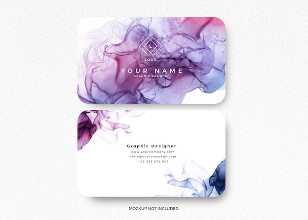 Modern colorful alcohol ink design card Free Psd