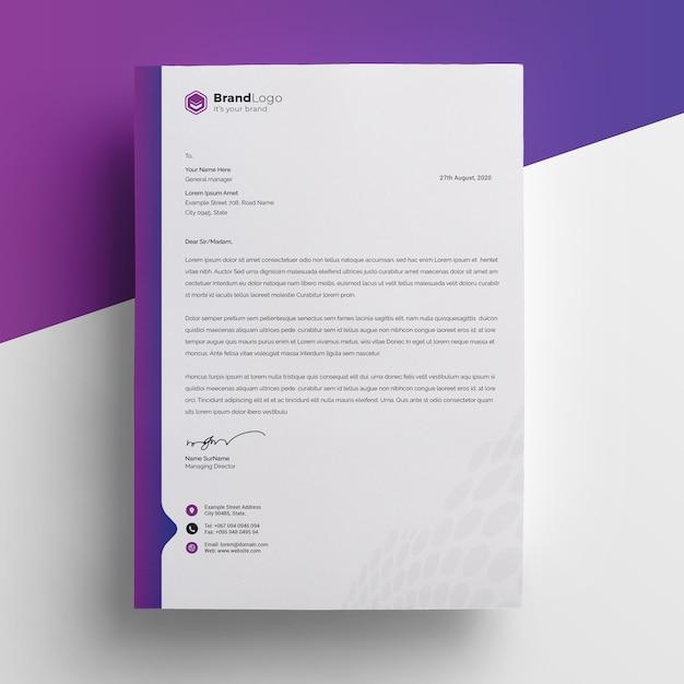 Modern company letterhead premium psd Premium Psd