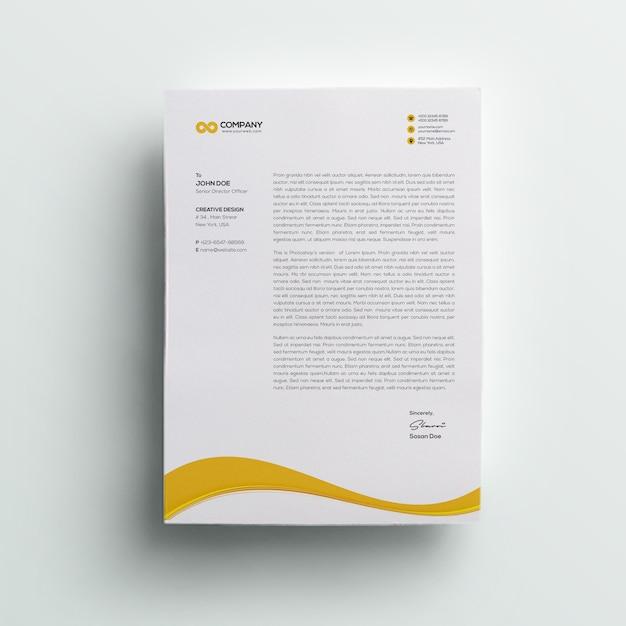 현대 회사 레터 헤드 프리미엄 PSD 파일