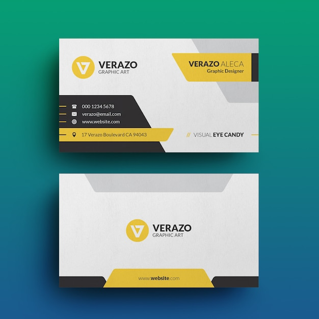 Modern corporate business card template Premium Psd