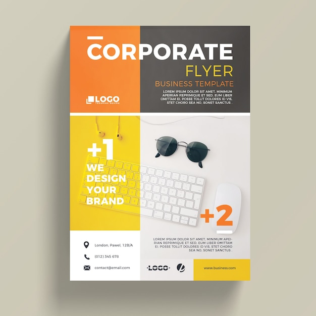 business brochure templates psd free download - modern corporate business flyer template psd file free