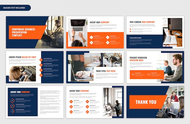 Modern corporate business and startup presentation template Premium Psd