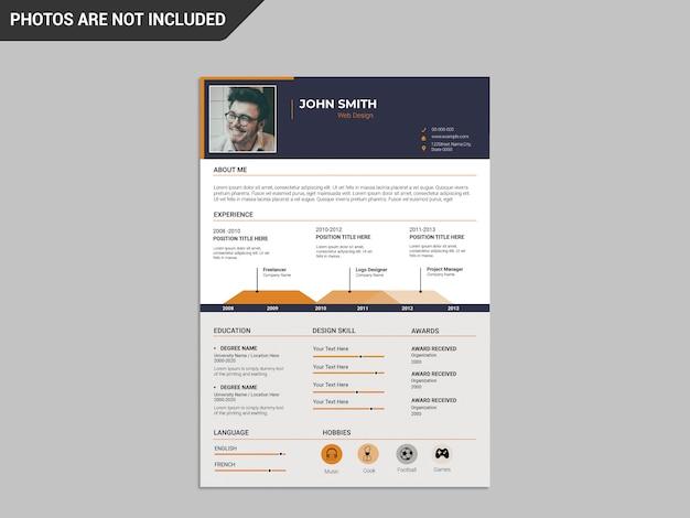 Modern creative resume template Premium Psd