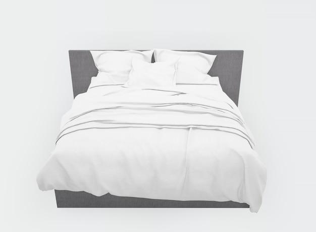 Современная двуспальная кровать макет изолированы Бесплатные Psd