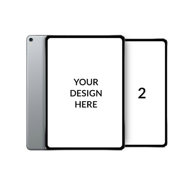 Modern dual screen tablet mockup Premium Psd