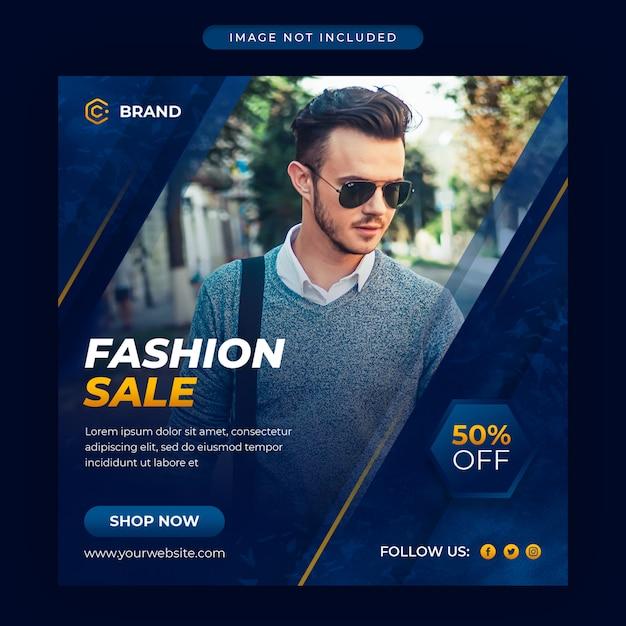 Modern fashion sale instagram banner or social media post template Premium Psd