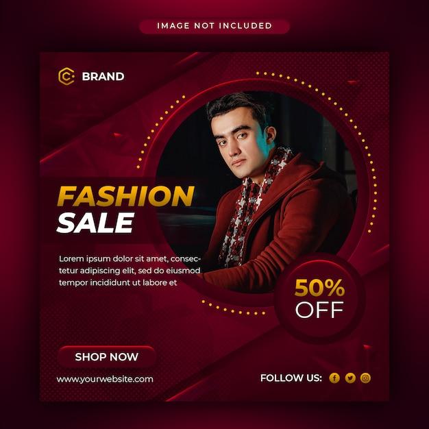 Modern fashion sale social media and web banner template Premium Psd