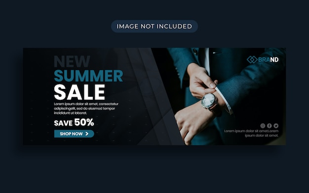 Modern fashion summer sale facebook cover and web banner Premium Psd