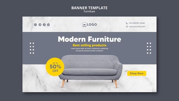 Banner orizzontale di mobili moderni Psd Gratuite