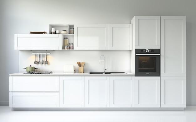 Современная мебель для кухни Бесплатные Psd