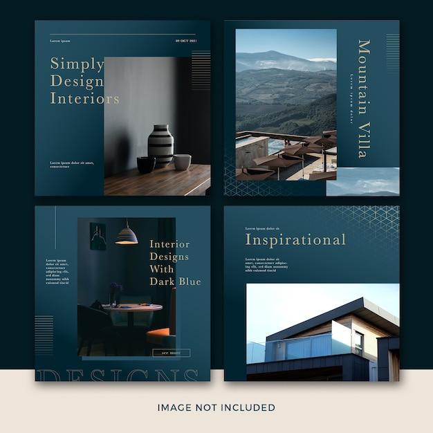 モダン家具ソーシャルメディア投稿テンプレートコレクション Premium Psd