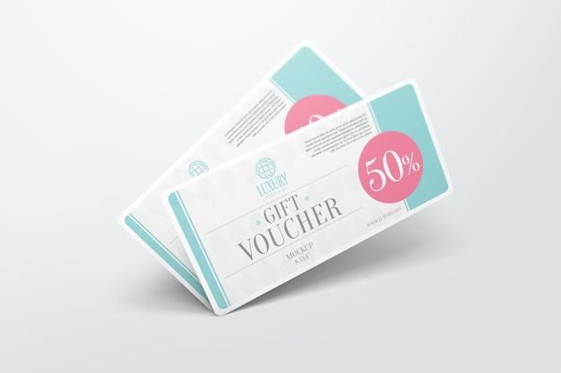 modern gift voucher mockup psd file premium download