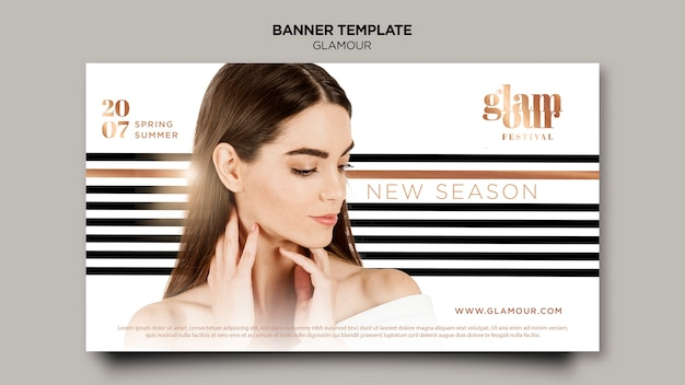 Modern glamour banner template Free Psd
