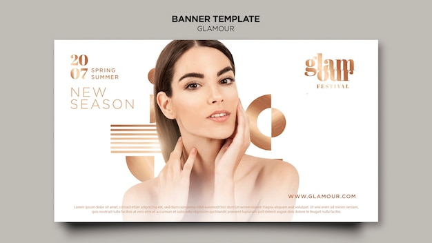 Modern glamour banner template Free Psd