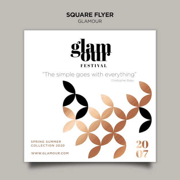 Modern glamour flyer template Free Psd