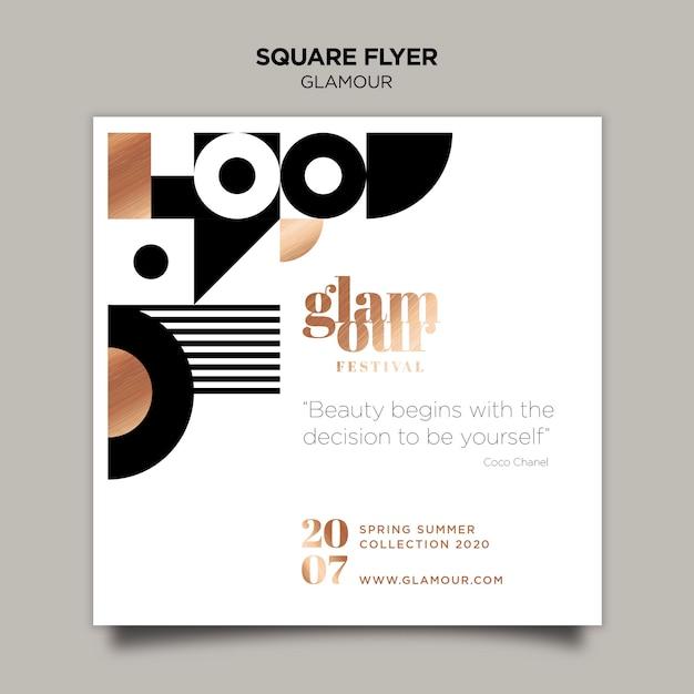 Modern glamour flyer template Free Psd