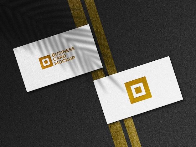Макет современной золотой визитки Premium Psd