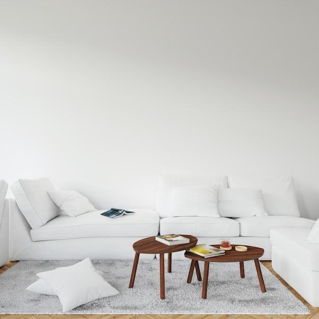Modern interior design of living room Free Psd