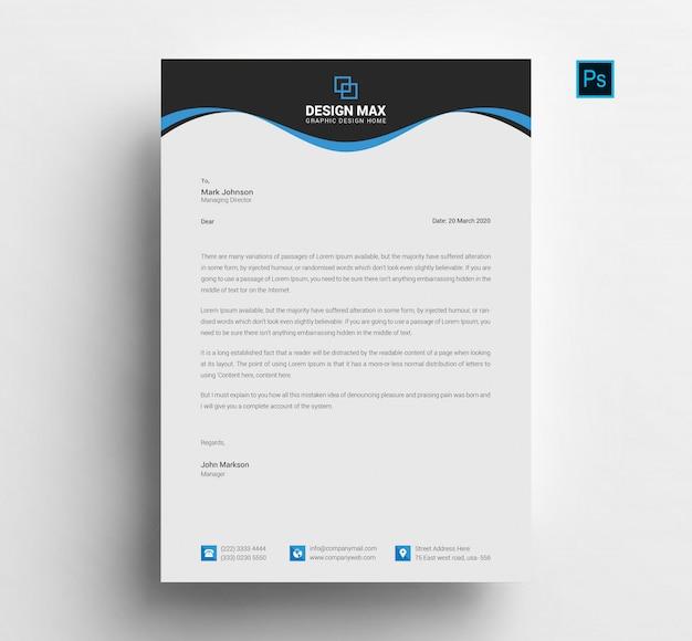 Modern letterhead design Premium Psd