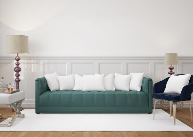 Modern living room with sofa and mockup cushions Free Psd