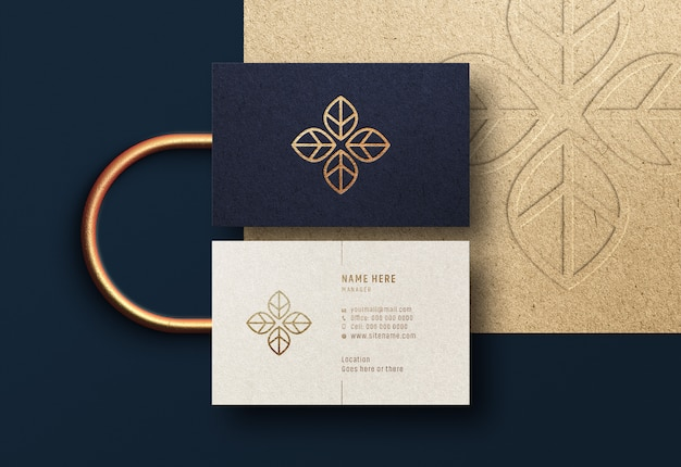 Modern & luxury business card mockup Premium Psd