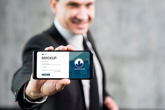 Modern man concept with mock-up Premium Psd