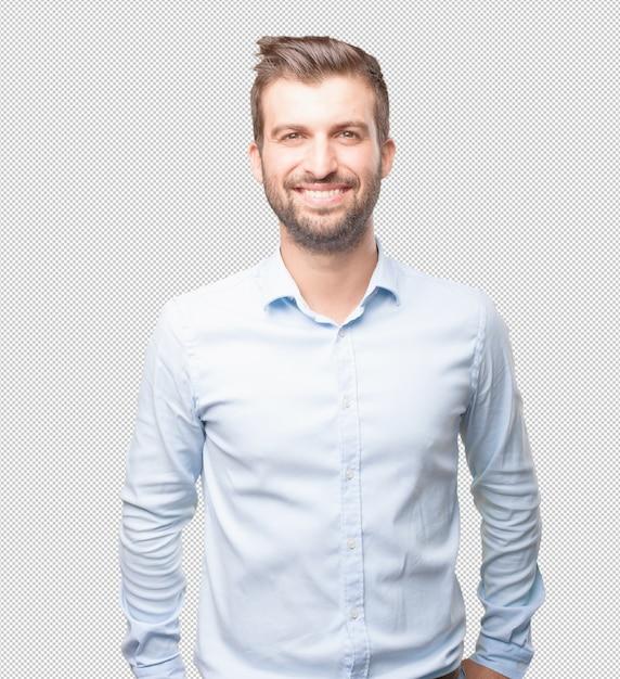 Modern man smiling Premium Psd