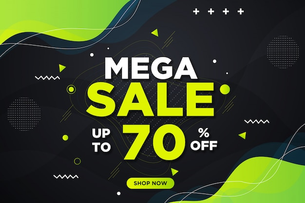 Modern mega sale banner background Premium Psd
