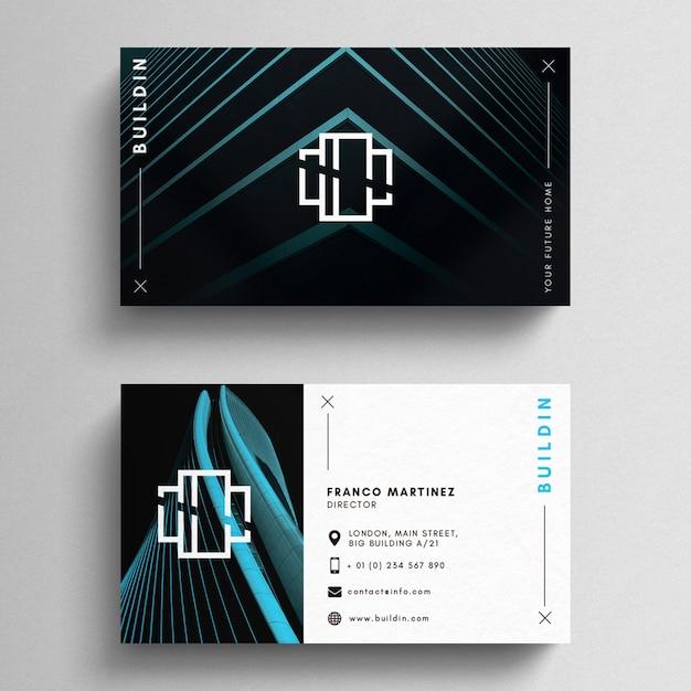 Modern minimal business card template Free Psd