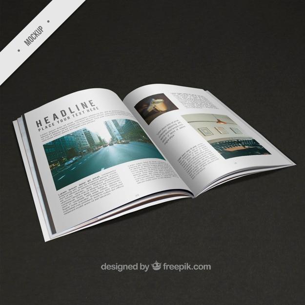 Modern mockup of magazine Free Psd