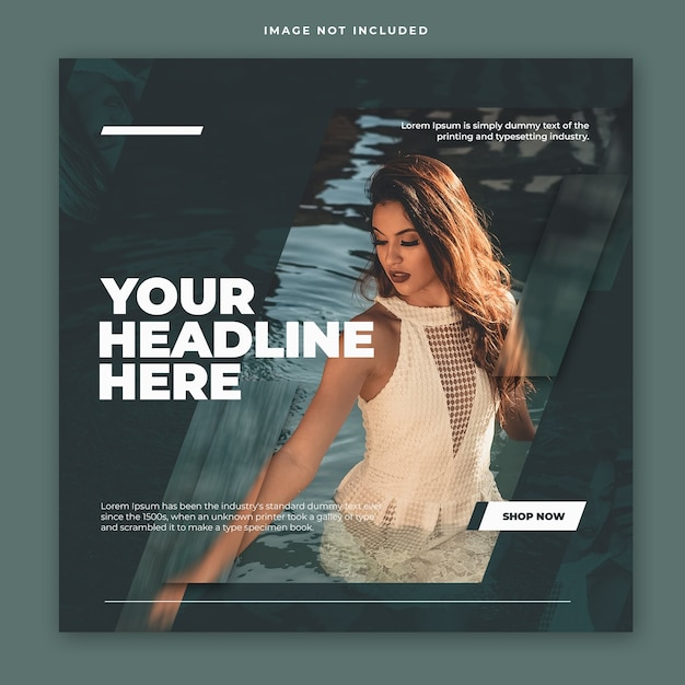 Modern modern instagram post template design Premium Psd