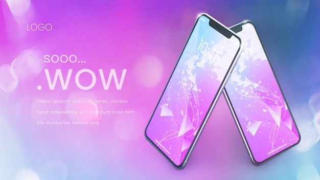 Modern pixel perfect phone mockup Premium Psd