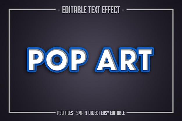 Modern pop art text style editable font effect Premium Psd
