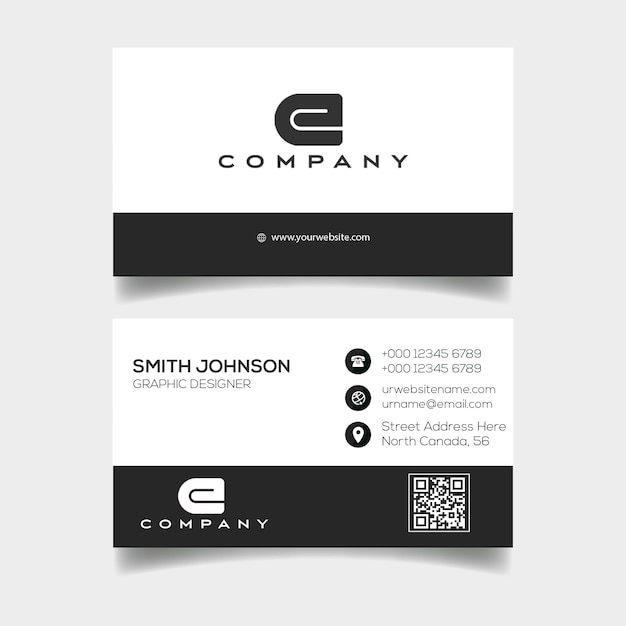 Modern professional business card template Premium Psd