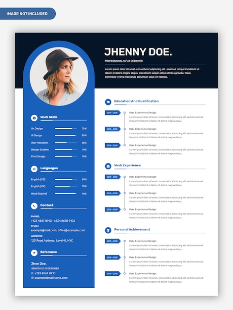 modern professional creative resume template with photo