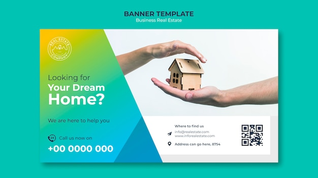 Modern real estate banner template Free Psd