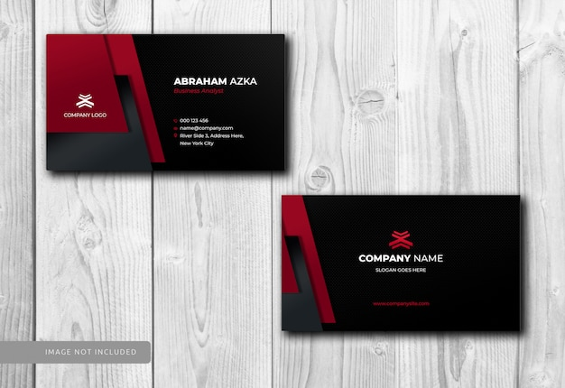 Modern red business card design with corporate Premium Psd
