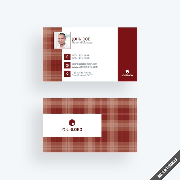 Modern red business card mockup with calendar Premium Psd