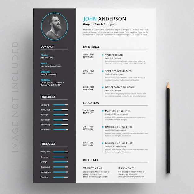 Modern resume Premium Psd