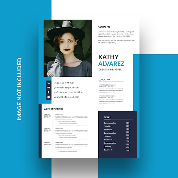 Modern simple template for curriculum Premium Psd