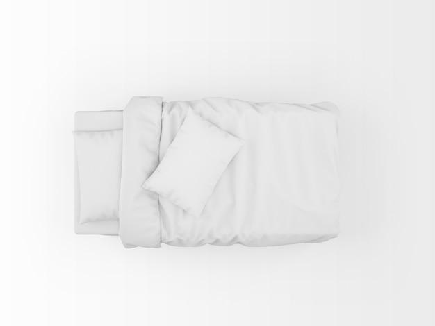 Современный односпальная кровать макет, изолированные на вид сверху Бесплатные Psd