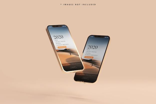 現代のスマートフォンのモックアップ 無料 Psd