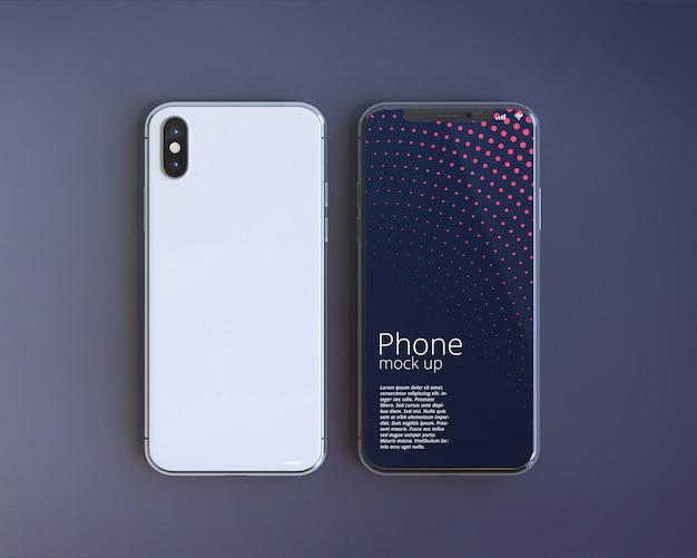 Modern smartphone screen mockup Premium Psd