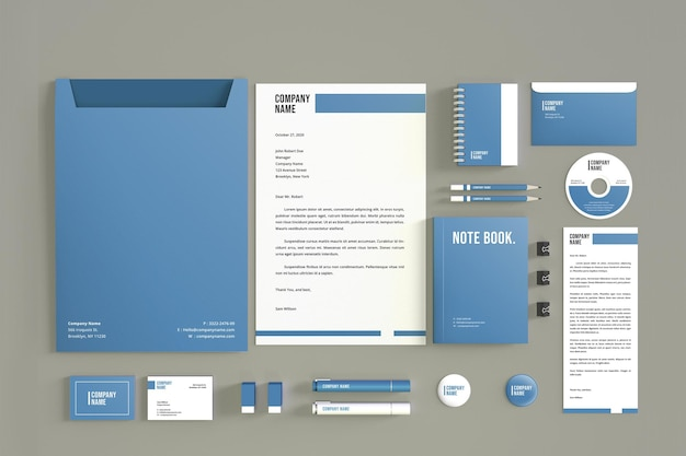 Modern stationery mockup design isolated Premium Psd