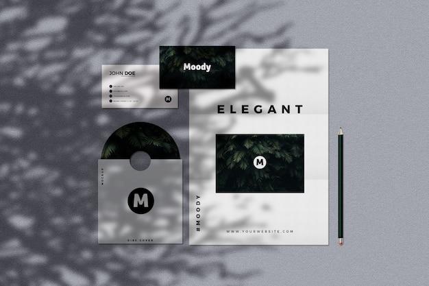 Modern stationery mockup Premium Psd