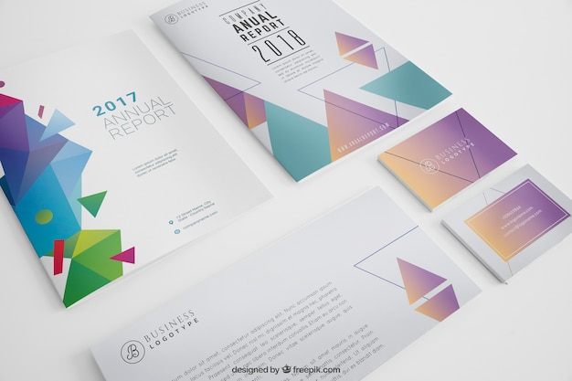 modern stationery mockup psd file free download
