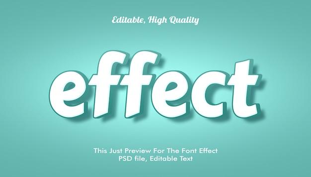 Современный стиль 3d модный эффект шрифта Premium Psd