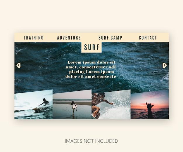 Modern surf template website Free Psd