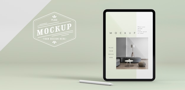 Tablet moderno con mock-up dello schermo Psd Gratuite