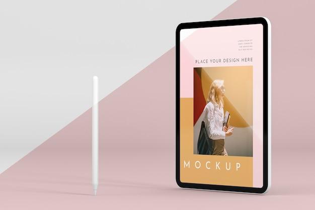 Современный планшет с макетом экрана Бесплатные Psd
